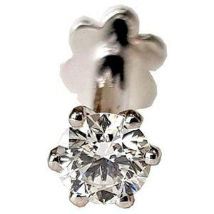 piercing de tornillo para nariz, de oro blanco de 14 k con diamante