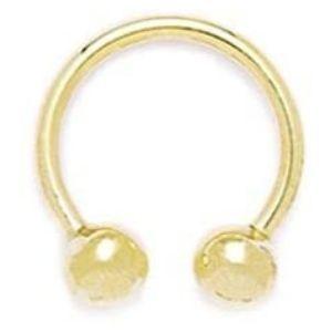 piercing gauge circular para nariz, de oro amarillo de 14 k