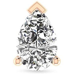 piercing tipo pera para cartilago, de oro rosa de 14 k con diamante