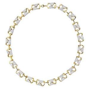 pulsera para mujer, de oro amarillo macizo de 14 k con diamantes de imitacion