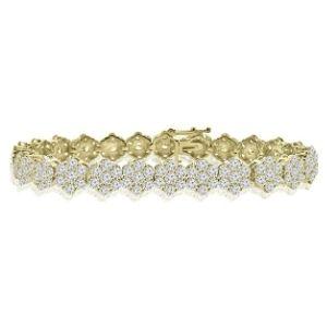 pulsera para mujer, de oro amarillo de 14 k con diamantes