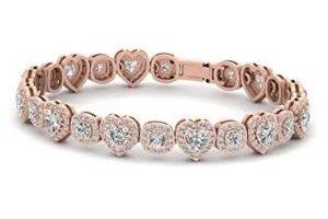 pulsera tenis para mujer, de oro rosa de 18 k con diamantes