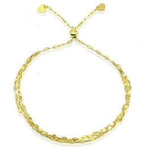 pulsera ajustable para niños, de oro amarillo de 14 k