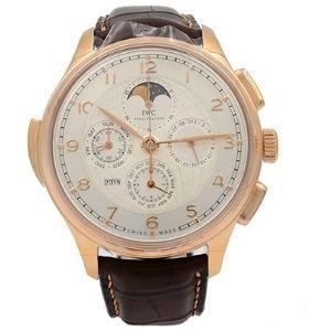 reloj automático iwc gran complicacion portuguesa para hombres, de oro rosa de 18 k