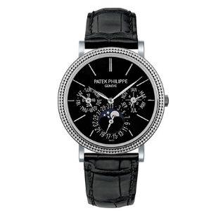 reloj automatico patek philippe grand complicaciones moonphase 38 mm oro blanco reloj 5139 g-010, para hombre, de oro blanco de 18 k