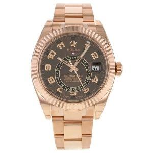 reloj automatico rolex new sky-dweller everose 326935, para hombre, de oro rosa de 18 k