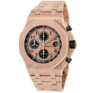 reloj cronografo doble real audemars piguet 26470or.oo.1000or.01, para hombre, de oro rosa de 18 k