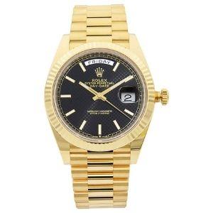 reloj automatico rolex 228238bkdmsp, para hombres, de oro amarillo de 18 k