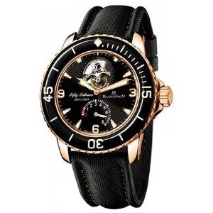 reloj blancpain 5025.3630.52 fifty fathoms tourbillon, para hombres, de oro rosa de 18 k