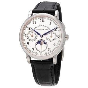 reloj pulsera para hombre A. Lange & Sohne 238.026 con calendario anual de fase lunar, de oro blanco de 18 k