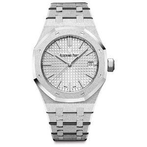 reloj audemars piguet, roble real 1.299 676Ä®c.gg.1263bc.01 para mujer, de oro blanco esmerilado de 18 k