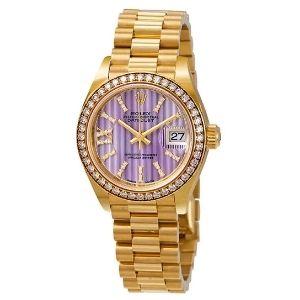 reloj automatico rolex 279138lisrdp, para mujer, de oro amarillo de 18 k con diamantes
