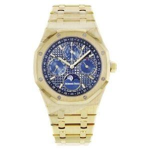 reloj automatico, audemars piguet royal oak 26574ba.OO.1220ba.01 para hombre, de oro amarillo de 14 k