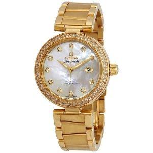 reloj automatico omega de ville 425.65.34.20.55.009, para mujer, de oro amarillo de 18 k