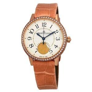 reloj automatico jaeger lecoultre rendez-vous q3572420, para mujer, de oro rosa con correa de piel