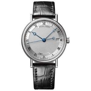reloj automatico breguet classique womens 9067bb/12/976, para mujer, de oro blanco de 18 k con correa de piel