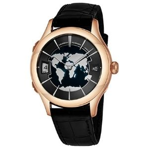 reloj automatico Laurent Ferrier Galet Traveller, para hombre, de oro rosa de 18 k