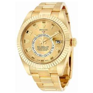 reloj automatico de pulsera rolex sky dweller 326938cao, para hombre, de oro amarillo de 18 k