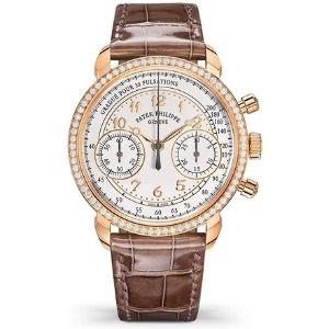 reloj pulsera automatico patek philippe complications 7150-250r-001, para hombre, de oro rosa de 18 k con diamantes