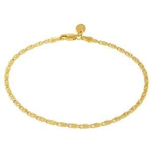 tobillera con corte diamante y estrella para hombre, mujer y niños, chapada en oro amarillo de 24 k