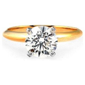anillo de compromiso, de oro amarillo de 18k, con diamante de laboratorio