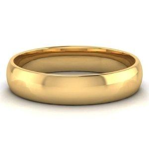 anillo pulido de matrimonio, de oro amarillo de 10 k