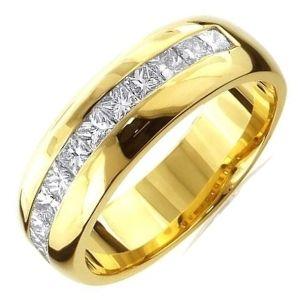 anillo de oro amarillo con diamantes