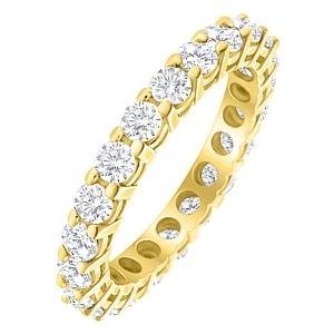 anillo de oro amarillo de 18 k con diamantes