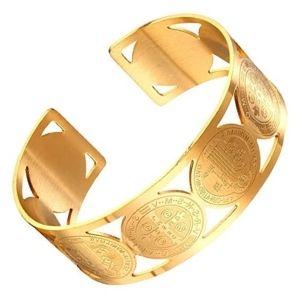 brazaletes chapados en oro