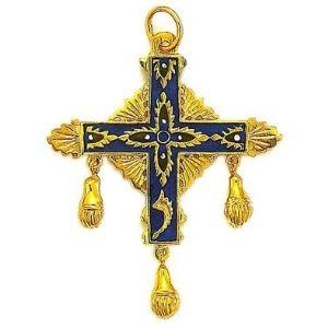colgante cruz espíritu santo de velay (auvergne), en oro amarillo macizo de 18 k