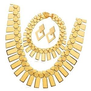 conjuntos de joyas chapadas en oro