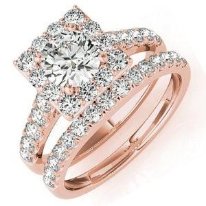 conjuntos de joyas de oro rosa