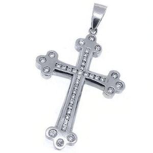 cruces de oro blanco