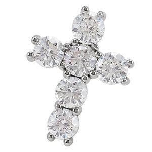 cruces de oro con diamantes