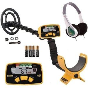 detector de oro y metales garrett ace 200, con bobina impermeable y auriculares