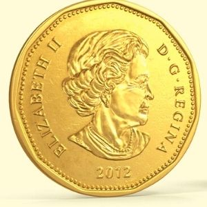 monedas dolar canadiense
