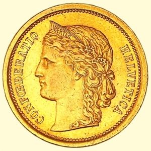 monedas francos suizos