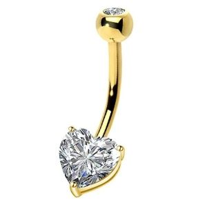 piercing de oro con circonitas