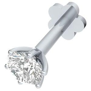 piercing de oro con diamantes