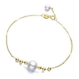 pulseras de oro con perlas