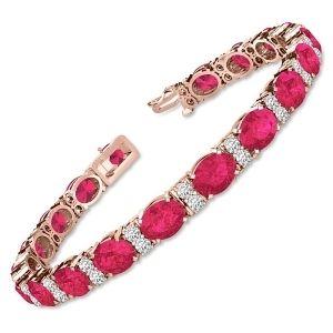 pulseras de oro con rubies