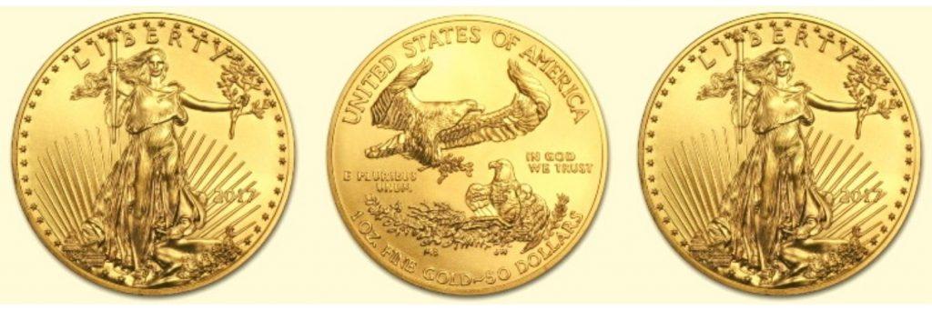 historia de las monedas aguila de oro americanas
