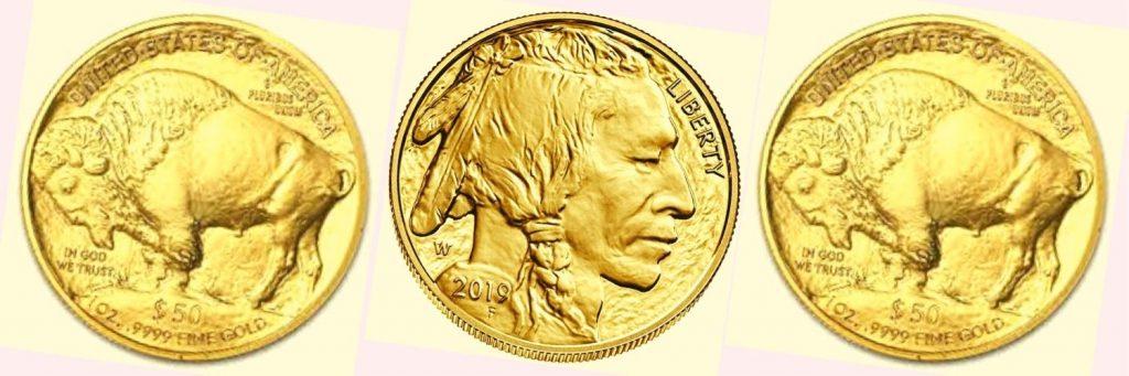 historia de las monedas bufalo de oro americano