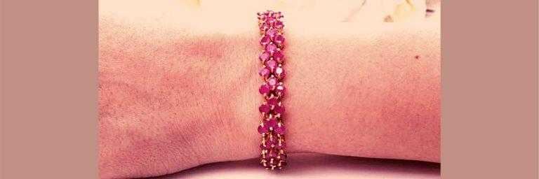 guia para seleccionar pulseras de oro con rubies