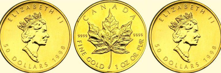 historia de las monedas dolar canadiense de oro