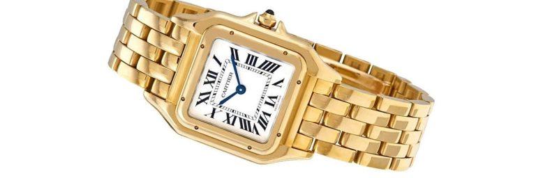 reloj cartier de oro amarillo para mujer