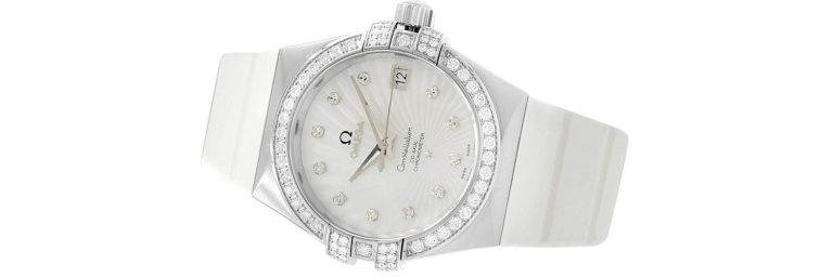 reloj omega de oro blanco para mujer