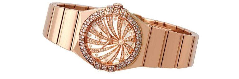reloj omega de oro rosa para mujer