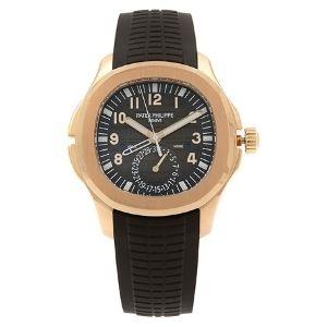 reloj patek philippe aquanaut 5164r, de oro rosa de 18 k y correa de caucho, para hombre