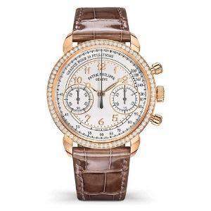 reloj patek philippe complications 7150-250R-001, de oro rosa de 18 k con diamantes y correa de piel, para hombre y mujer, unisex